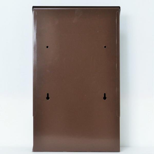 郵便ポスト郵便受けおしゃれかわいい人気北欧モダンデザインメールボックス壁掛けステンレスブラウン色ポストm012|ihome|04