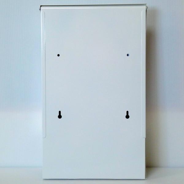 郵便ポスト郵便受けおしゃれかわいい人気北欧モダンデザインメールボックス壁掛けプレミアムステンレスホワイト白色ポストpm014|ihome|04
