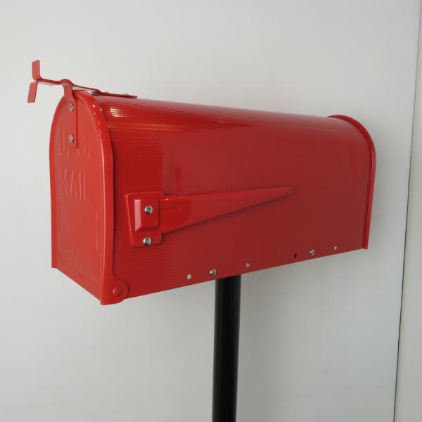 郵便ポスト郵便受けおしゃれかわいい人気アメリカンUSメールボックススタンドお洒落なレッド色ポストpm084|ihome|02