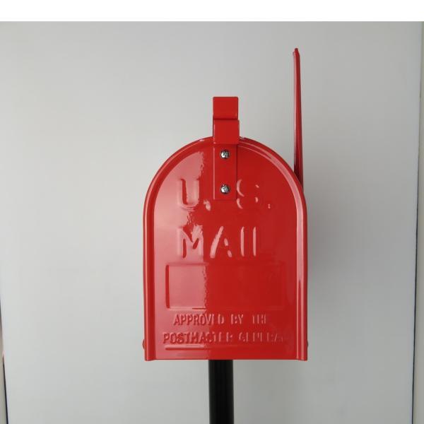 郵便ポスト郵便受けおしゃれかわいい人気アメリカンUSメールボックススタンドお洒落なレッド色ポストpm084|ihome|03