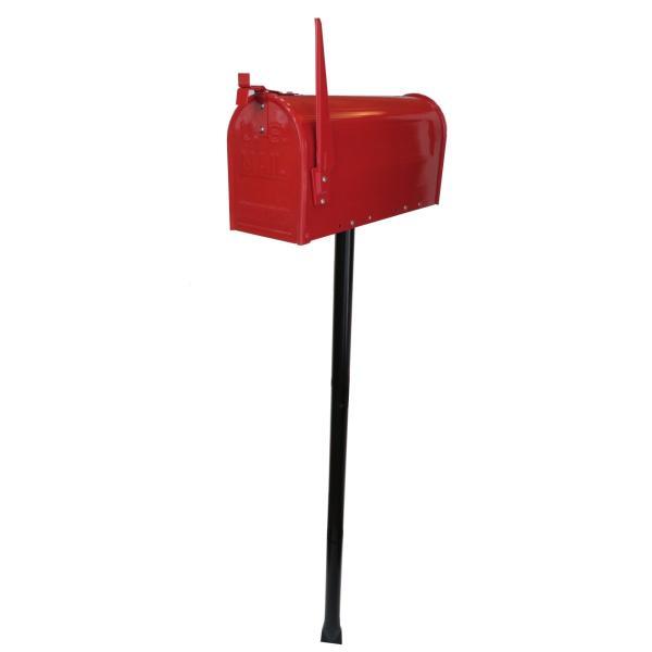 郵便ポスト郵便受けおしゃれかわいい人気アメリカンUSメールボックススタンドお洒落なレッド色ポストpm084|ihome|05
