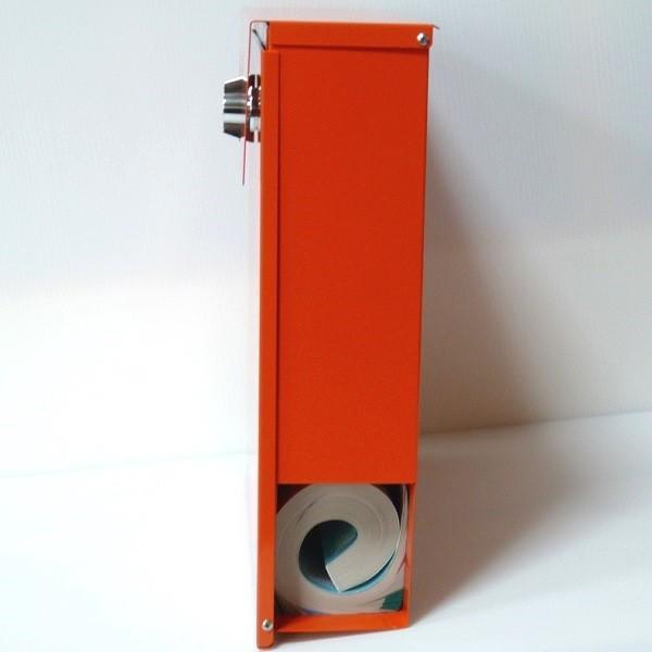 郵便ポスト郵便受けおしゃれかわいい人気北欧モダンデザイン大型メールボックス 壁掛けステンレスオレンジ色ポストm152|ihome|03