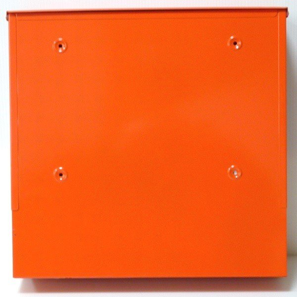 郵便ポスト郵便受けおしゃれかわいい人気北欧モダンデザイン大型メールボックス 壁掛けステンレスオレンジ色ポストm152|ihome|04