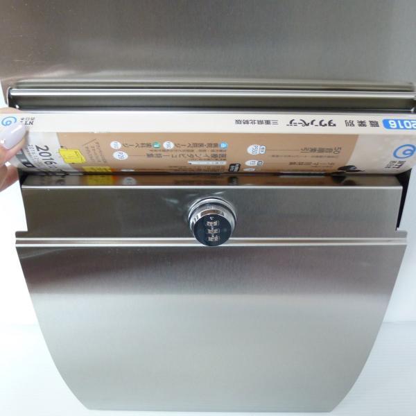 郵便ポスト郵便受けおしゃれかわいい人気北欧モダンデザインメールボックス壁掛けダイヤル錠付きプレミアムステンレスシルバーステンレス色ポストpm161 ihome 05
