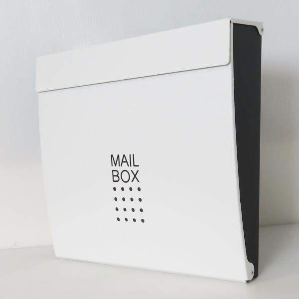 郵便ポスト郵便受けおしゃれかわいい人気北欧モダンデザインメールボックススタンド型マグネット付きホワイト白色ポスト新pm171s|ihome|02