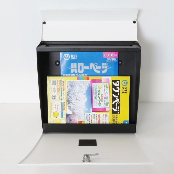 郵便ポスト郵便受けおしゃれかわいい人気北欧モダンデザインメールボックススタンド型マグネット付きホワイト白色ポスト新pm171s|ihome|05