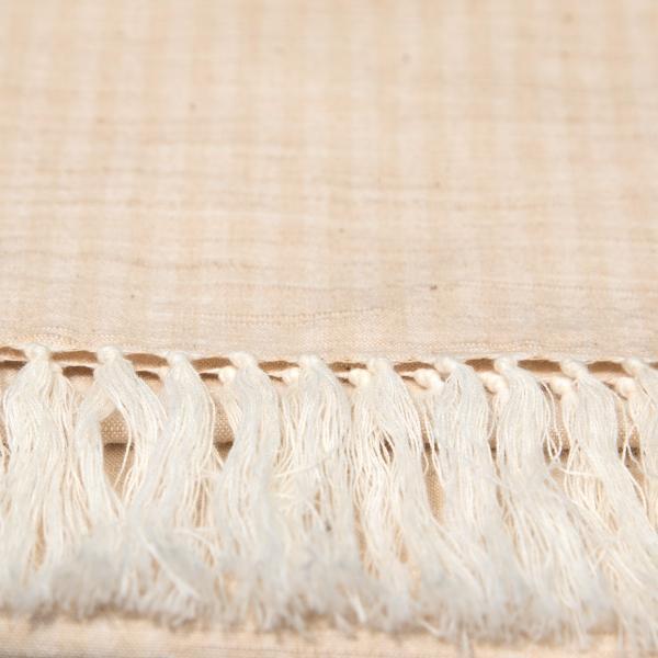 【限定再販売】 草木染め 会津木綿ストール Botany 柿 IIE 日本製 福島県会津|iie|02