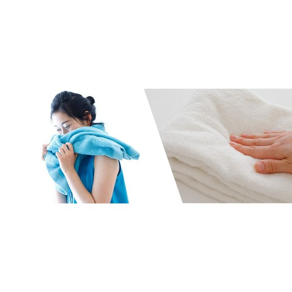 iimin 今治ずっと清潔タオル バスタオル 銀イオンの除菌力と柔らかな肌触りを持つ今治バスタオル 約 60×120cm 部屋干しでも臭いにくい 撫でるだけで水分を吸収|iimin|09