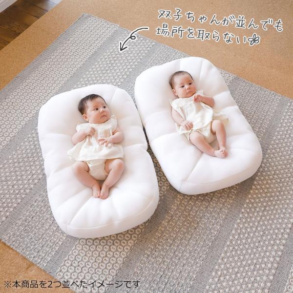 iimin Cカーブベビーベッド 赤ちゃんが安心する姿勢を保つベビーベッド まるで抱っこされているような感覚で眠れる|iimin|09