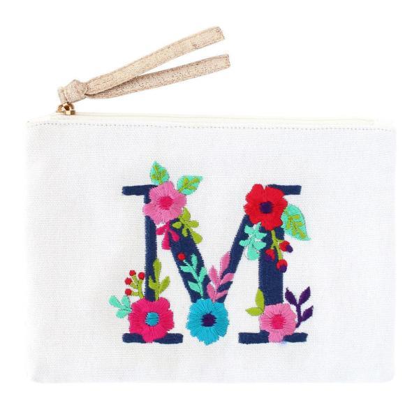 刺繍ポーチ アルファベット M 16819000165