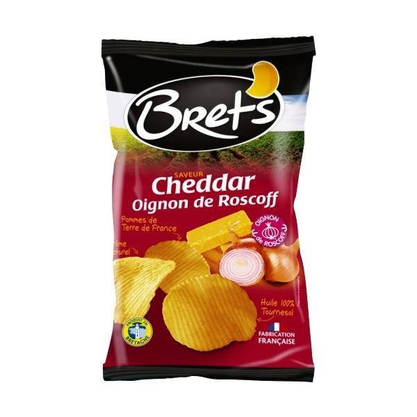 Brets(ブレッツ) ポテトチップス チェダー&オニオン 125g×10袋 フランス お菓子 チーズ味
