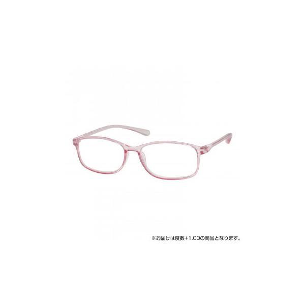 ベルエクレール抗菌老眼鏡 クリアピンク +1.00