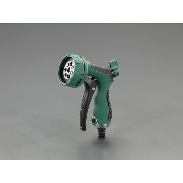 ESCO スプレー ノズル 7パターン EA124LA-72 洗浄 掃除 清掃 用品 ホース 用 ノズル 畑 ガーデニング 洗車 シャワー ミスト ジェット
