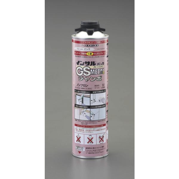 ESCO 1000g 発泡 ウレタン フォーム (一液性/ガン用/ピンク) EA930TC-12 サッシ回りの 結露防止 配管穴 埋め戻し 断熱欠損部 補修 等