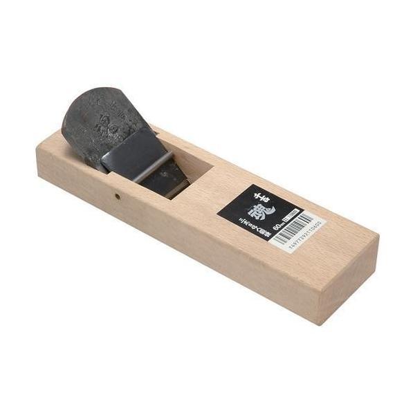 藤原産業 千吉魂 台付鉋 60MM かんな カンナ 鉋 大工 建築 内装 リフォーム 木材表面 削り 加工 作業 刃研ぎ直しのし易い鋼付きの 鉋