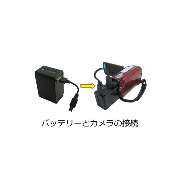 (大容量) ビクター(Victor) BN-VG121 対応 互換バッテリー(LED)|iishop2|02