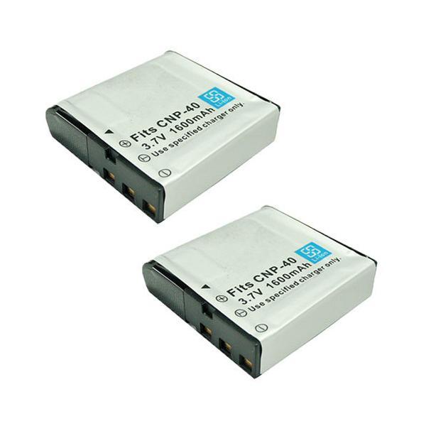 2個セット カシオ(CASIO) NP-40 互換バッテリー