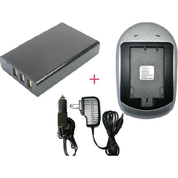 充電器セット フジフィルム(FUJIFILM) NP-120 / リコー(RICOH) DB-43 互換バッテリー / パナソニック(PANASONIC)  JT-H200BT-20 + 充電器(AC)