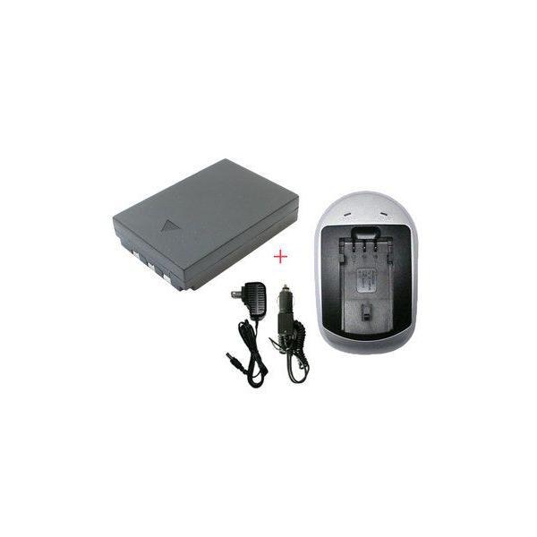 充電器セット オリンパス Li-10B / Li-12B互換バッテリー+充電器(AC)