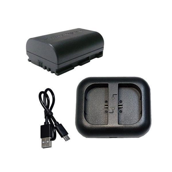 USB充電器セット  キャノン(Canon) LP-E6 互換バッテリー (残量表示対応)EOS 70D対応 + 充電器(USB 2個同時充電 タイプ)