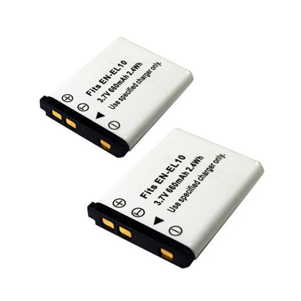 2個セット ニコン(NIKON) EN-EL10 互換バッテリー / ペンタックス(PENTAX) D-LI108 / D-LI63