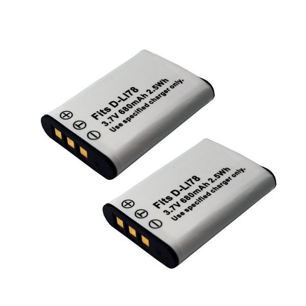 2個セット ペンタックス(PENTAX) D-LI78 / ニコン(NIKON)EN-EL11 / オリンパス(Olympus) LI-60B 互換バッテリー