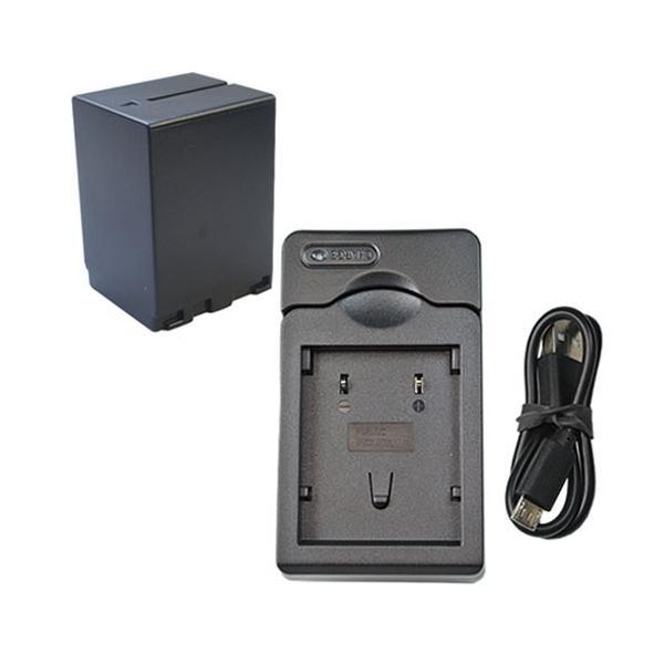 充電器セット ビクター(Victor) BN-VF733 互換バッテリー + 充電器(USB 据置)