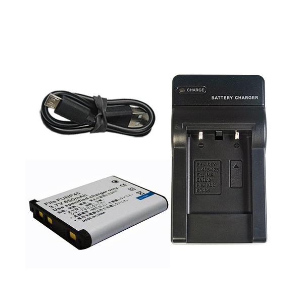 充電器セット フジフィルム(FUJIFILM) NP-45 / NP-45A / NP-45S 互換バッテリー +充電器(USB)