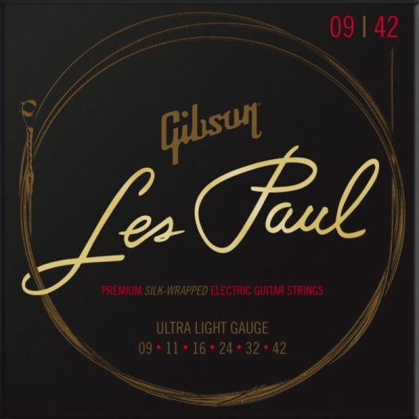 Gibsonギブソン/LesPaulPremiumElectricGuitarStrings/UltraLightGauge(S