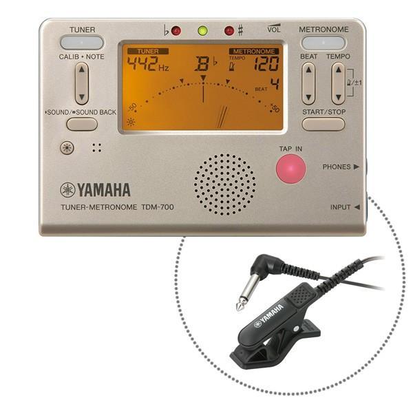 YAMAHA TDM-700GM マイク付き チューナー&メトロノーム