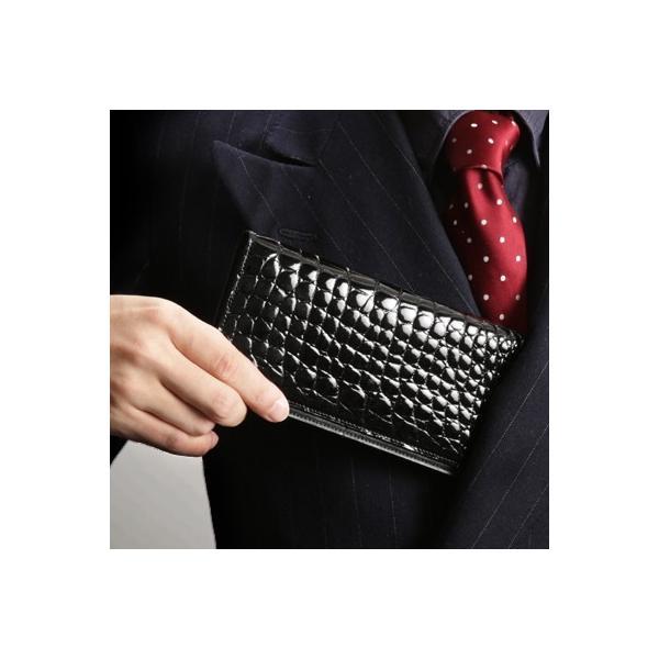 【池田工芸】日本最大のクロコダイル専門店が贈るCrocodile Billcase wallet(クロコダイル ビルケースウォレット)長財布(長札入れ)【8月8日頃出荷】