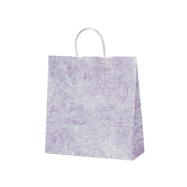 T-6 自動紐手提袋 紙袋 紙丸紐タイプ 320×110×330mm セール品 新作 人気 1642 彩流 200枚 紫