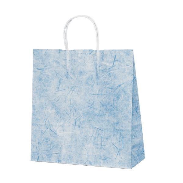 無料サンプルOK T-6 自動紐手提袋 紙袋 オンライン限定商品 紙丸紐タイプ 320×110×330mm 1643 紺 彩流 200枚
