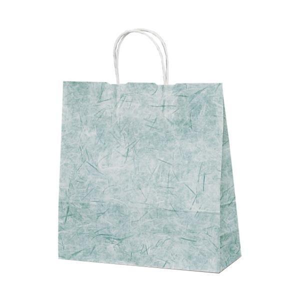 T-6 高額売筋 自動紐手提袋 出荷 紙袋 紙丸紐タイプ 320×110×330mm 1644 彩流 200枚 緑
