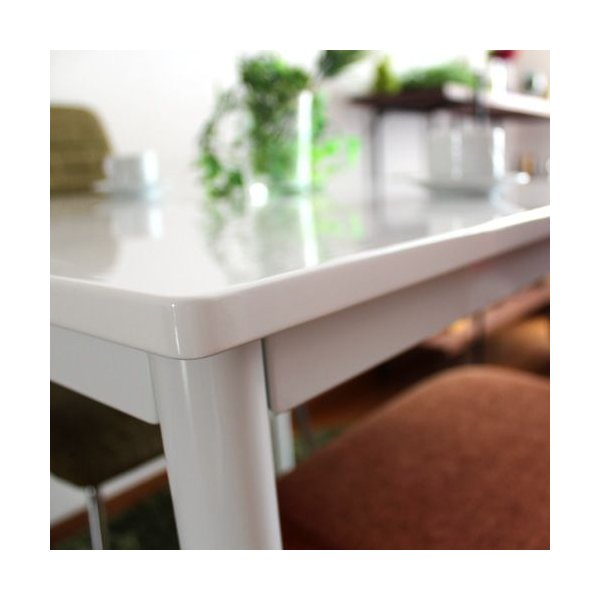 ダイニングテーブル3点セット ホワイト 鏡面 リープ|ikikagu|03