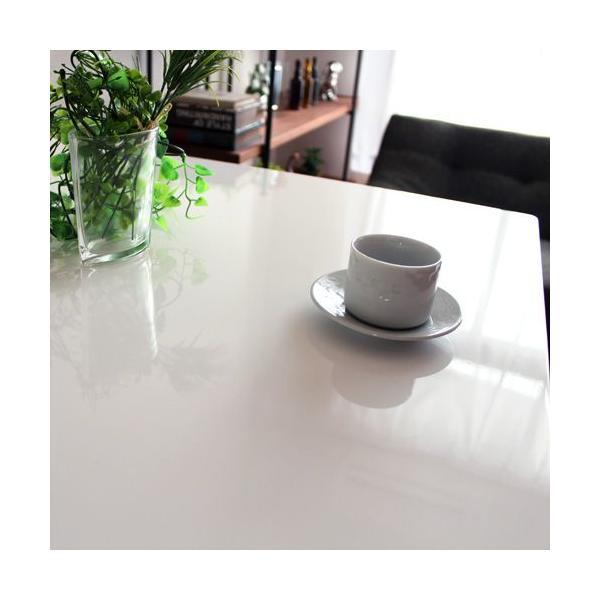 ダイニングテーブル3点セット ホワイト 鏡面 リープ|ikikagu|04