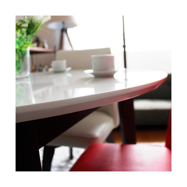 ダイニングテーブルセット 5点セット 丸テーブル ホワイト パラダイス|ikikagu|03