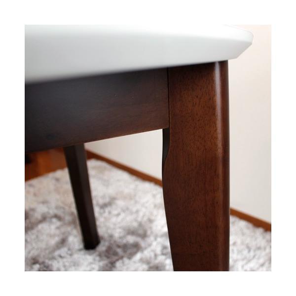 ダイニングテーブルセット 5点セット 丸テーブル ホワイト パラダイス|ikikagu|04