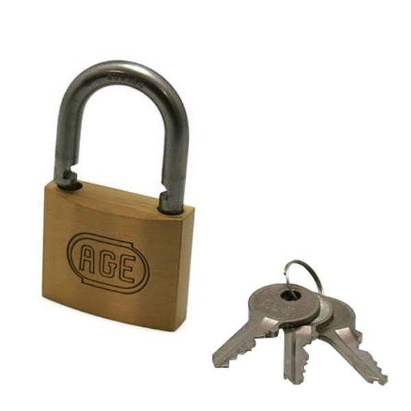 送料無料 G-026 ステン弦Wロック南京錠45mm同一鍵 3本キー 00071026-001