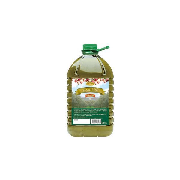 送料無料 そらみつ ギリシャ産精油オリーブオイル ヘルシーユ 5L PET×4個[代引き不可]