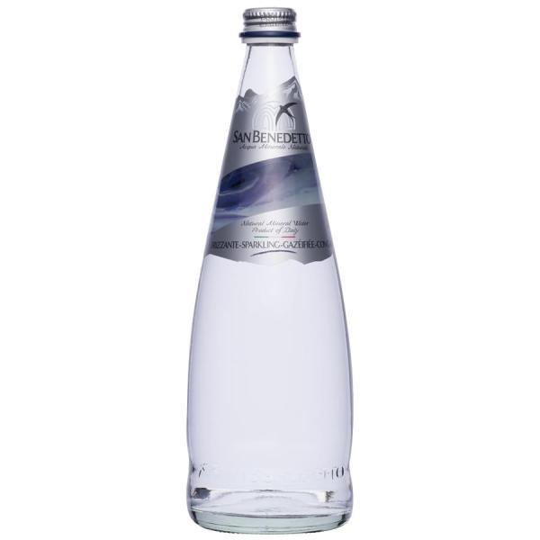 送料無料 Sanbenedetto サンベネデット スパークリングウォーター グラスボトル 750ml×12本[代引き不可]