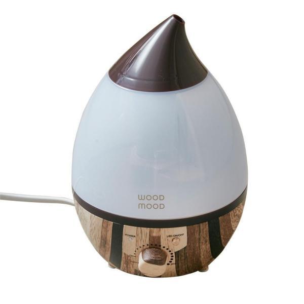 送料無料 アロマ超音波加湿器 Wood mood(ウッドムード) ヴィンテージウッド M EF-HD04VIM