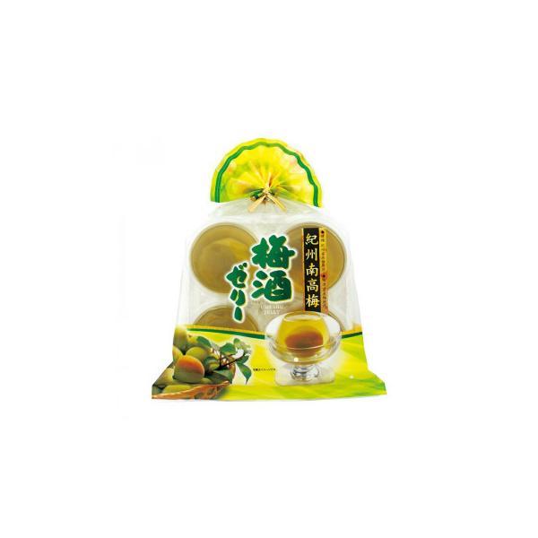 送料無料 金澤兼六製菓 ギフト 紀州南高梅 梅酒ゼリー 4個入巾着×12セット KUN-4[代引き不可]