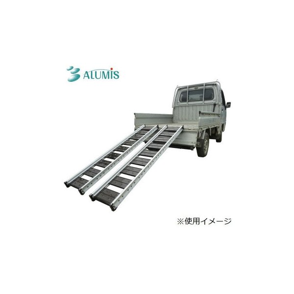 送料無料 アルミス 宮大工式 アルミブリッジ 1セット(2台入) ABS-MD-180-30-0.5[代引き不可]