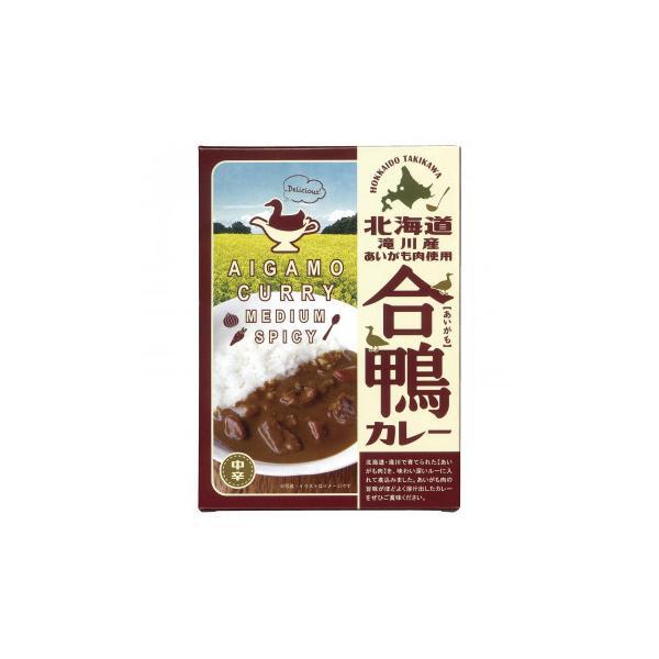 送料無料 北都 北海道 滝川産あいがも肉使用 合鴨カレー 180g 10個セット