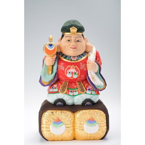 大黒様/奈良一刀彫/桧/木彫人形/大黒天|ikkisya
