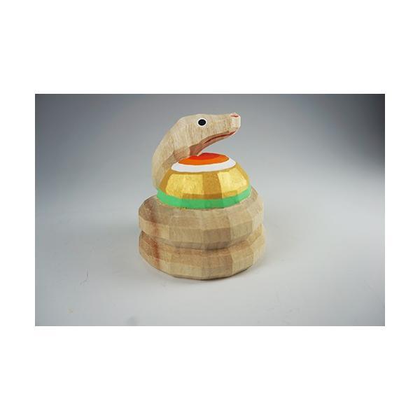干支置物「巳」(へび)小サイズ/奈良一刀彫/楠/人形/ヘビ/へび/巳|ikkisya|03