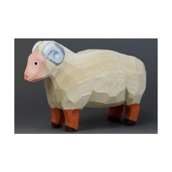 干支置物「羊」(ひつじ)大サイズ/奈良一刀彫/楠/人形/ヒツジ/ひつじ/羊|ikkisya|02