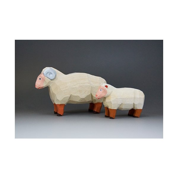 干支置物「羊」(ひつじ)ミニ(大)/奈良一刀彫/楠/人形/ヒツジ/ひつじ/羊|ikkisya|02