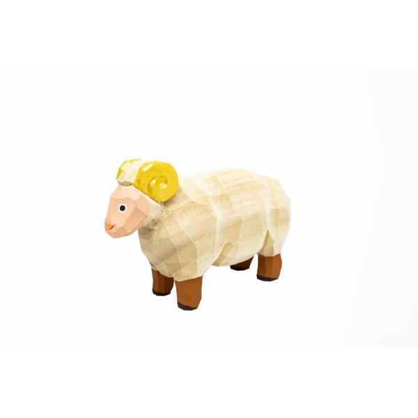 干支置物「羊」(ひつじ)小サイズ/奈良一刀彫/楠/人形/ヒツジ/ひつじ/羊|ikkisya
